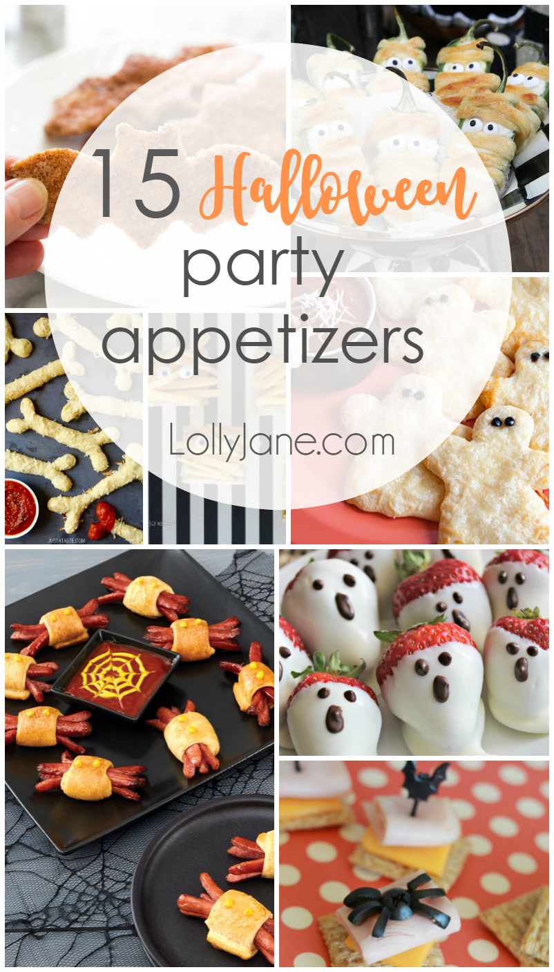 Halloween Party Appetizers - Lolly Jane