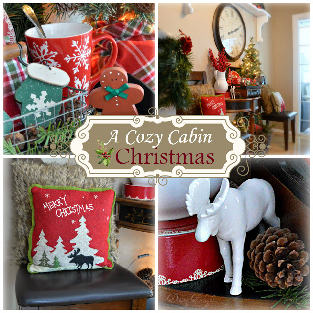A Cozy Cabin Christmas Display | Dining Delight