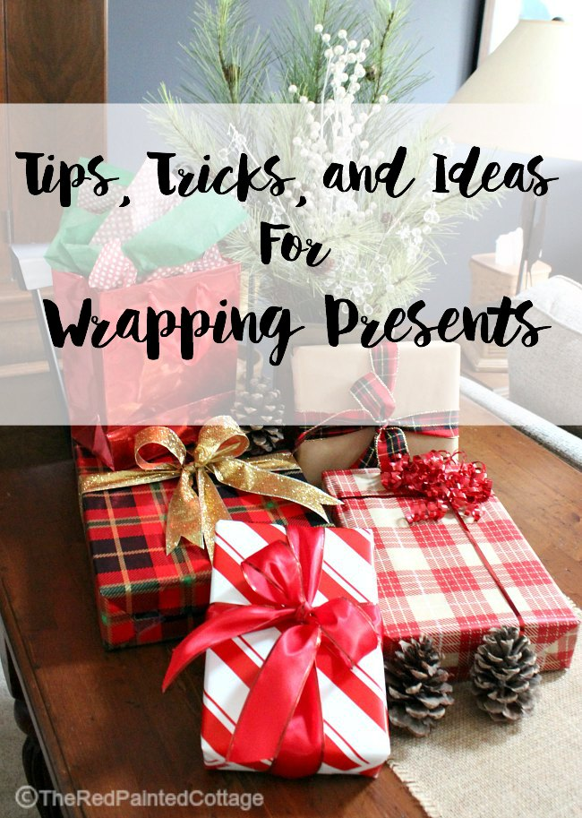 2 Tips, Tricks and Ideas For Wrapping Presents | The Red Painted Cottage