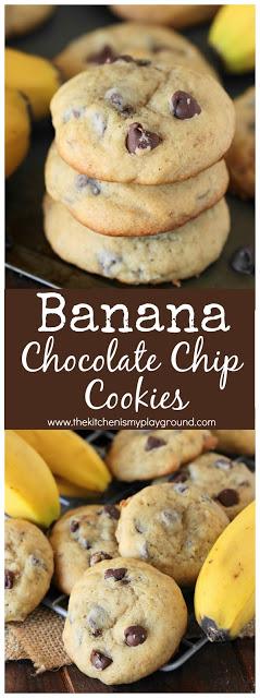 Banana Chocolate Chip Cookies | The Kitchen is my Playground