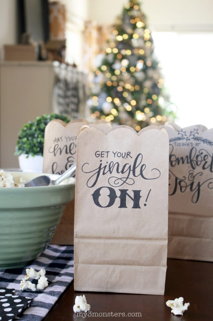 Hand-lettered Holiday Treat Bags | Lolly Jane