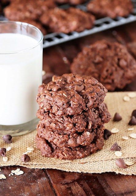 Triple Chocolate Oatmeal Cookies | The Kitchen Is My Playground