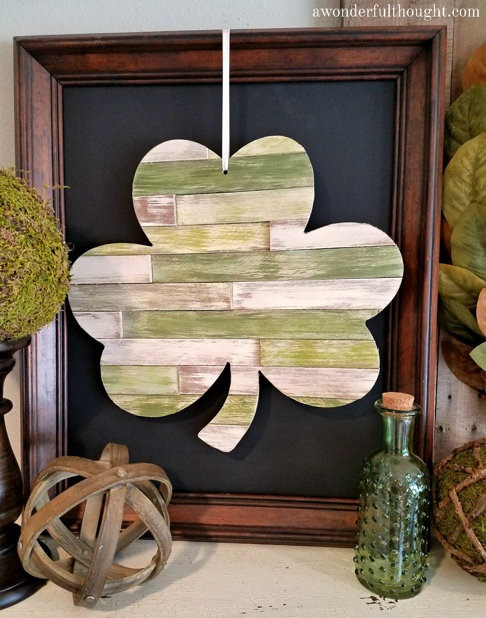 DIY Wood Shim Shamrock | A Wonderful Thought
