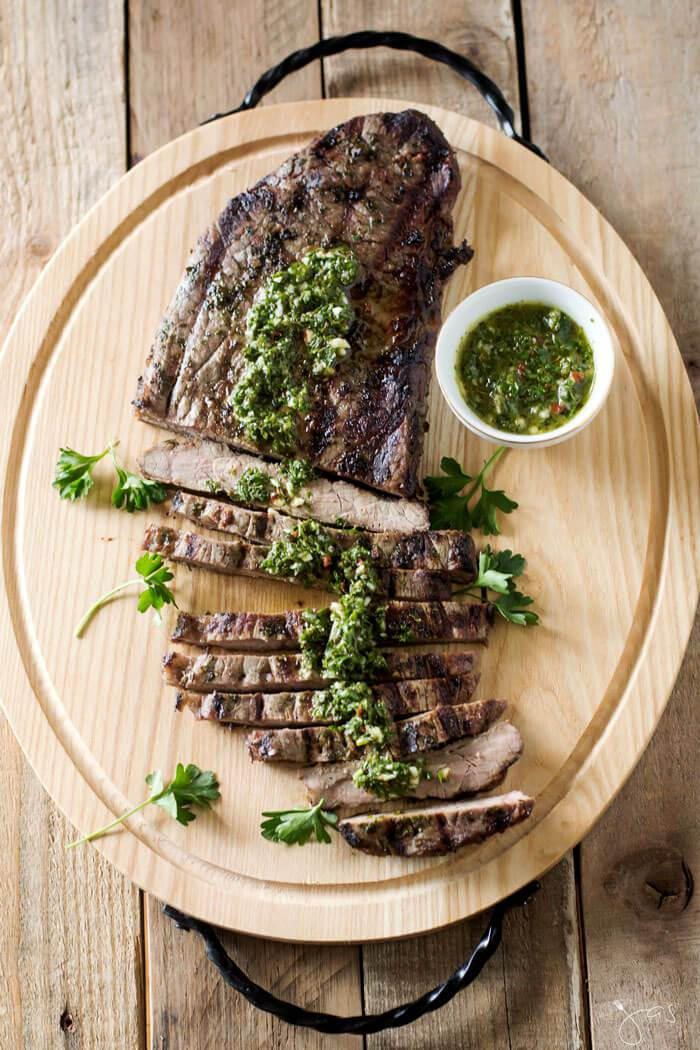 Classic Argentine Chimichurri Steak | All That Jas