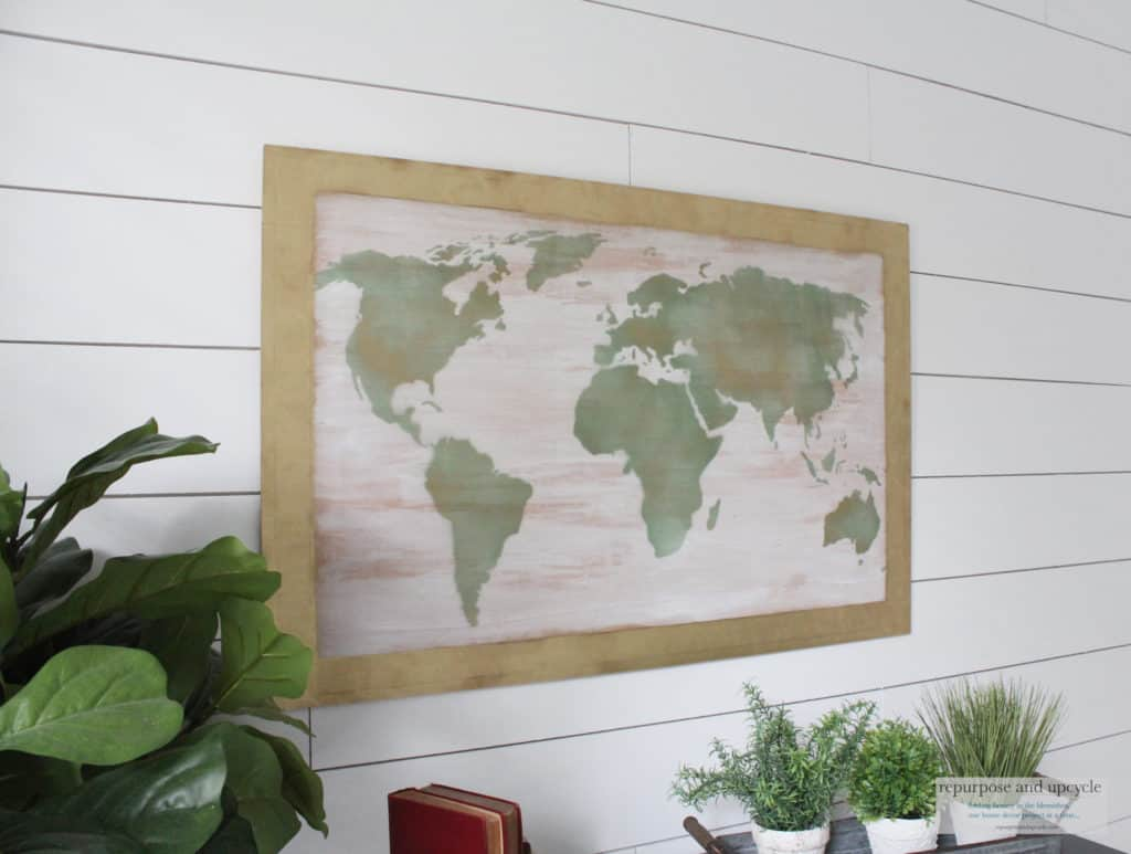 DIY World Map Art On Wood | Repurpose and Upcycle