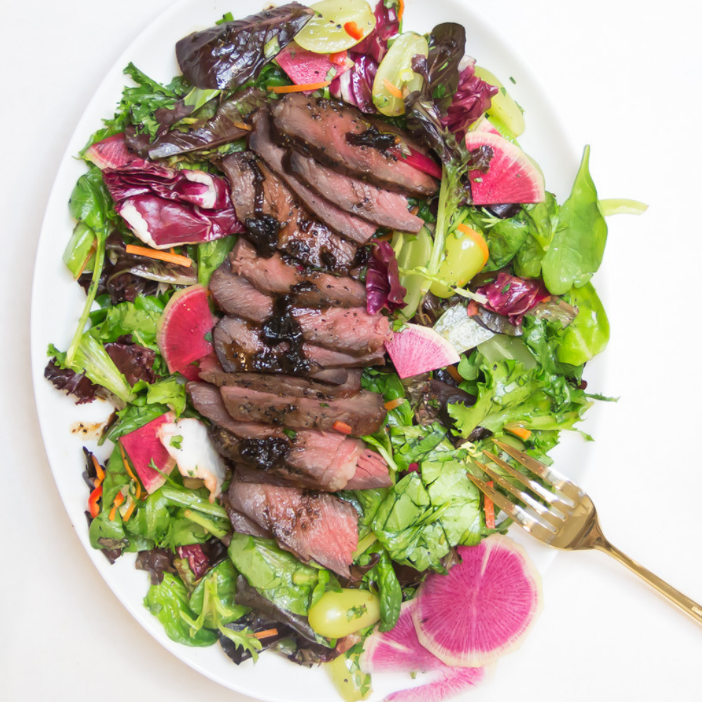 Grilled Steak with Spicy Herb Salad | The Bearded Hiker