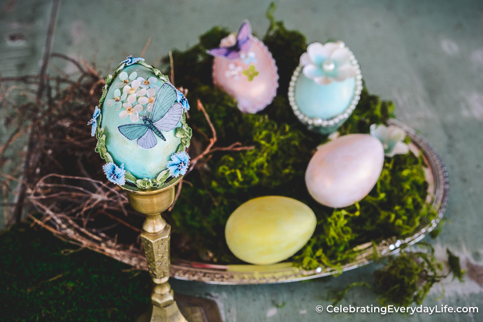 How to Make Easy DIY Victorian Easter Eggs | Celebrating Everyday Life