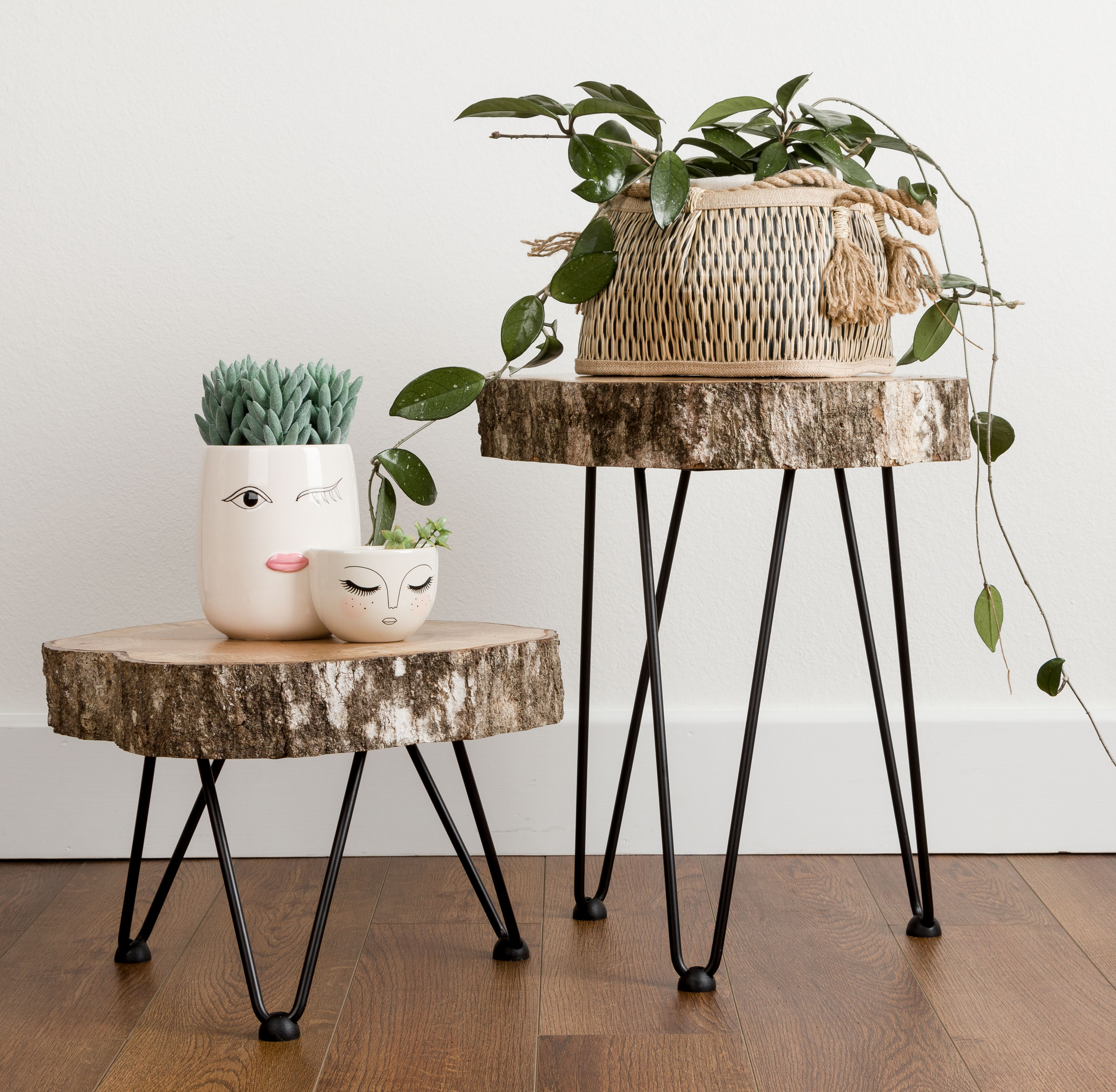Tree Slice Hairpin Tables | Kippi at Home
