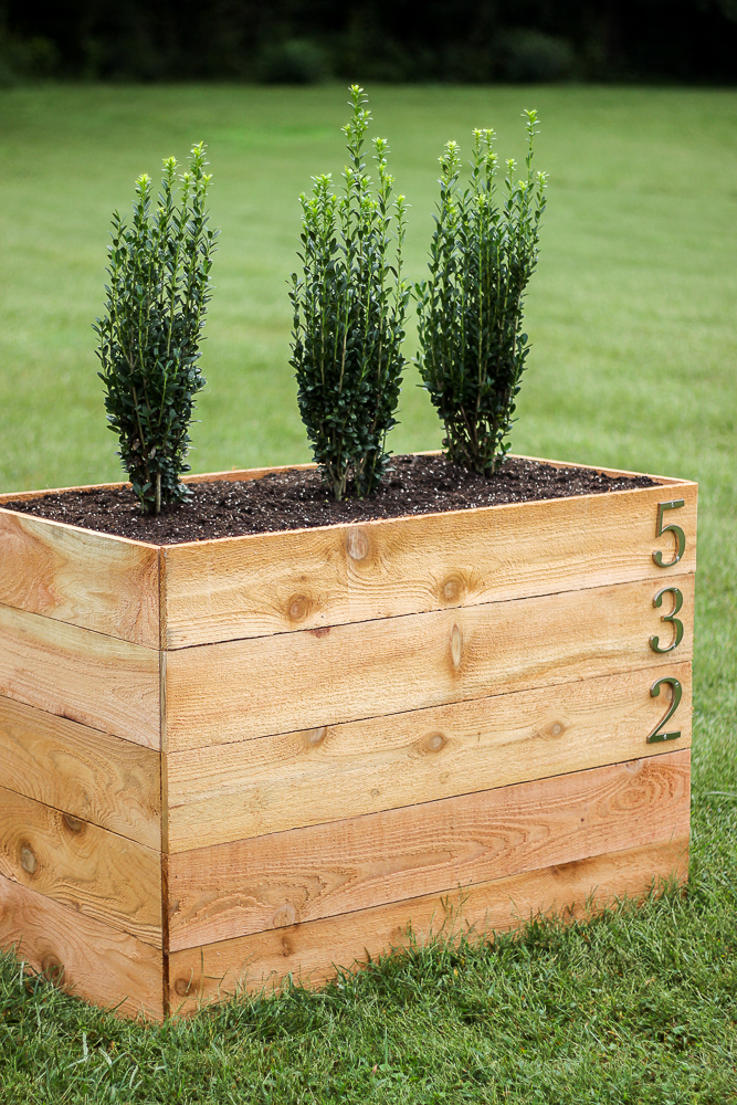 DIY Cedar Box Planter | Rain on a Tin Roof