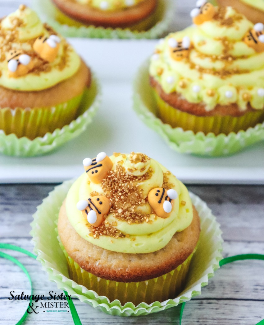 Lemon Beehive Cupcakes | Salvage Sister & Mister